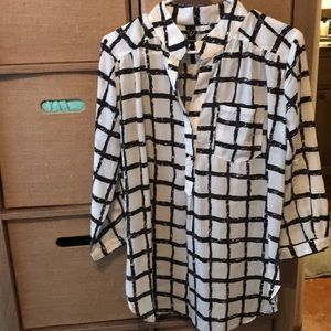 Windsor black and white checked blouse